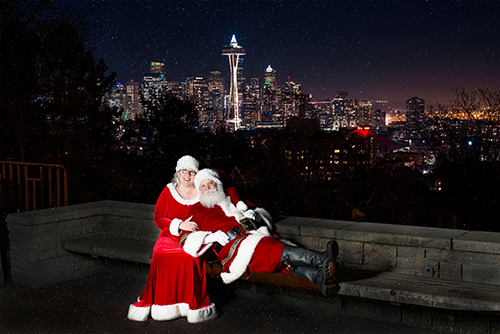 Santa and Mrs Claus Seattle