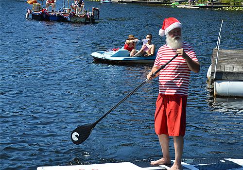Santa Claus Seattle for hire Summer Santa